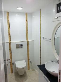 Emre Urasoğlu İç Mimarlık Tasarım Ltd.Şti. – Beyaz Ev - Mersin Çeşmeli Yazlık Projesi: minimal tarz tarz Banyo