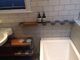 Bathroom floating shelves ,: modern Bathroom by woodstylelondon