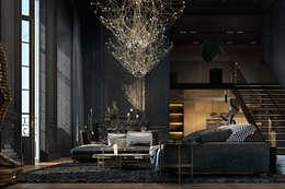 eclectic Living room by Виталий Юров