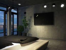 Roof apartment: Спальни в . Автор – Виталий Юров