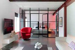 Schelpstraat Den Haag: moderne Slaapkamer door Architectenbureau Filip Mens
