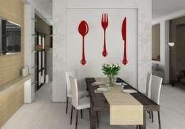 Sticker Mural - Couvert: Cuisine de style de style eclectique par wall-art.fr