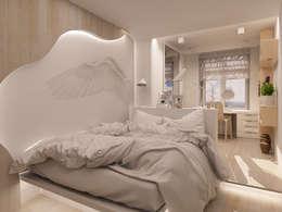 Небольшая двухкомнатная квартира: Спальни в . Автор – Дизайн В Стиле