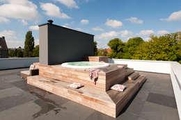 Projekty, nowoczesne Spa zaprojektowane przez paul seuntjens architectuur en interieur