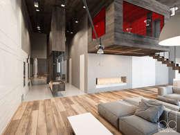Частный дом на рублево-успенском шоссе: Рабочие кабинеты в . Автор – BEINDESIGN