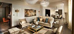 Livings de estilo moderno por Flairlight Designs Ltd