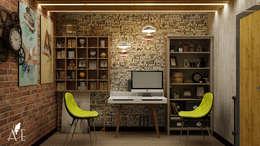 Проект интерьера квартиры 60 м2: Рабочие кабинеты в . Автор – Apolonov Interiors
