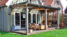 Oak Porch/ Eikenhouten Veranda:  Terras door Blok Meubel