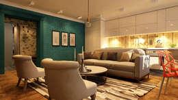Projekty,  Salon zaprojektowane przez Apolonov Interiors