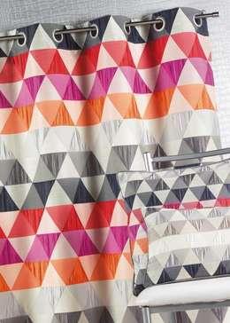 Rideau jacquard triangle - Mandarine:  de style  par La Maison d'Ursule