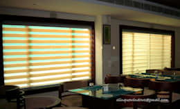 Dual Shade Roller Blinds:  Windows & doors  by Clinque window blind systems