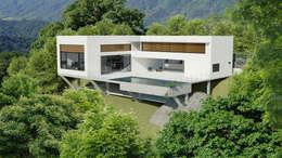 Casa Toninhas: Casas modernas por MM18 Arquitetura
