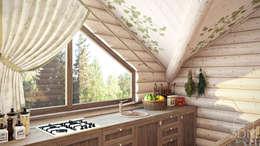 Cocinas de estilo rural por студия визуализации и дизайна интерьера '3dm2'