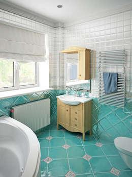 Семейный дом: Ванные комнаты в . Автор – Дизайн студия Александра Скирды ВЕРСАЛЬПРОЕКТ