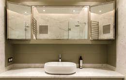 monoblok design & interiors – Tarabya B. Yali Project _Bathroom 1: modern tarz Banyo