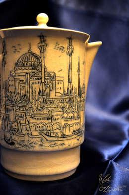 Ufuk Özçizme Seramik ve Sanat Atölyesi – Sufi İstanbul - Crackle: asyatik tarz tarz Mutfak