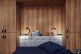 Wnętrze z Banksym: styl , w kategorii Sypialnia zaprojektowany przez Studio Potorska