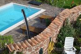 Jardines de estilo mediterraneo por Rimini Baustoffe GmbH