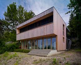 Construction d'une maison individuelle Mur Ossature Bois, Altkirch : Maisons de style de style Scandinave par LPAA