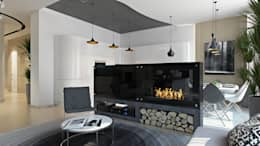 minimalistic Media room by студия визуализации и дизайна интерьера '3dm2'