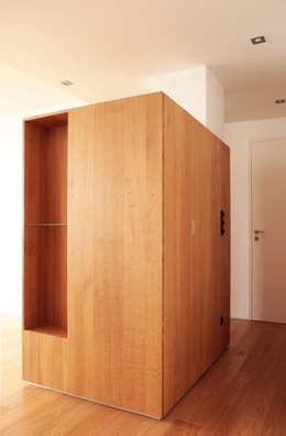 vestiaire / fermé: Couloir, entrée, escaliers de style de style Moderne par cambiums