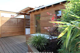 Die Sauna: skandinavisches Spa von Karl Kaffenberger Architektur | Einrichtung