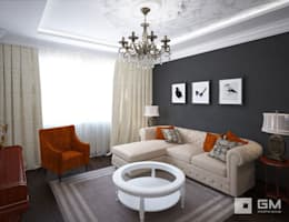 3-х комнатная квартира на ул. Абрамцевская : Гостиная в . Автор – GM-interior