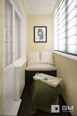 3-х комнатная квартира на ул. Абрамцевская : Tерраса в . Автор – GM-interior
