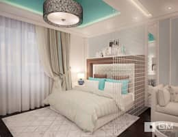 3-х комнатная квартира на ул. Абрамцевская : Спальни в . Автор – GM-interior