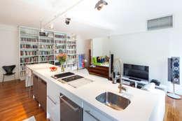 atelier blur / georges hung architecte d.p.l.g.의  주방