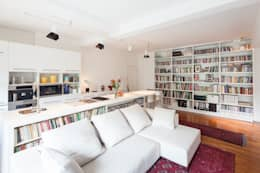 modern Living room by atelier blur / georges hung architecte d.p.l.g.