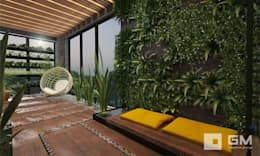 GM-interior의  실내 정원