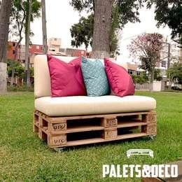Jardines de estilo rústico por Palets&Deco