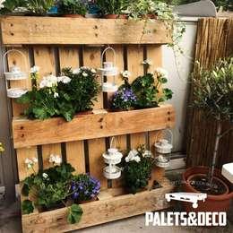 Jardineras con palets y otros materiales reciclados - Tamano palet europeo ...