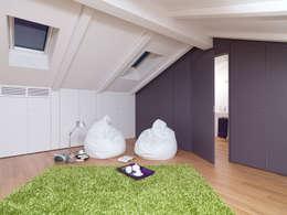Dormitorios de estilo moderno por studio antonio perrone architetto