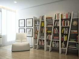 eclectic Study/office by EVGENY BELYAEV DESIGN