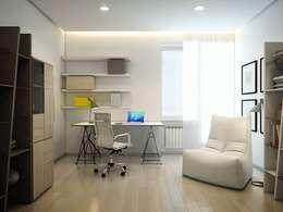 EVGENY BELYAEV DESIGN: eklektik tarz tarz Çalışma Odası