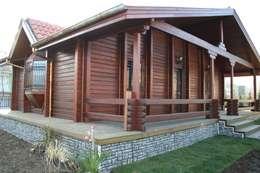 Casas de estilo rústico por YEŞEREN AHŞAP DEKORASYON