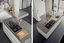 Villa Vught: moderne Keuken door Doreth Eijkens | Interieur Architectuur