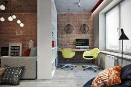 Bureau de style de style Industriel par Студия архитектуры и дизайна Дарьи Ельниковой
