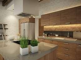 eclectic Kitchen by EVGENY BELYAEV DESIGN