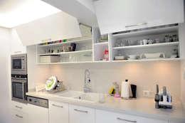 As Tasarım - Mimarlık – C.A.ŞEKERCİ ALSANCAK EVİ: modern tarz Mutfak
