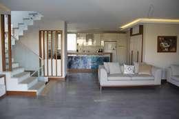Mimkare İçmimarlık Ltd. Şti. – M.BIÇAKÇI HOUSE BODRUM GUNDOGAN: modern tarz Oturma Odası