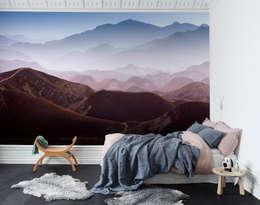 Paredes y pisos de estilo escandinavo por Rebel Walls