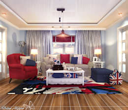 Your royal design: kırsal tarz tarz Oturma Odası