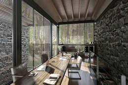 NATURAL LIGHT DESIGN STUDIO – House In Guatemala: modern tarz Çalışma Odası