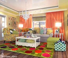 living room 2: Гостиная в . Автор – Your royal design