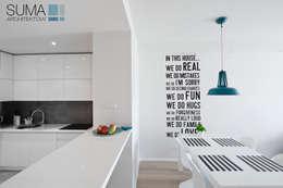 MODERN ONE: styl , w kategorii Jadalnia zaprojektowany przez SUMA Architektów