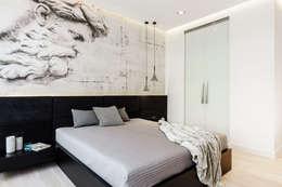 sypialnia : styl , w kategorii Sypialnia zaprojektowany przez Anna Maria Sokołowska Architektura Wnętrz