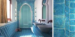 mediterranean Bathroom by L'arte del cotto